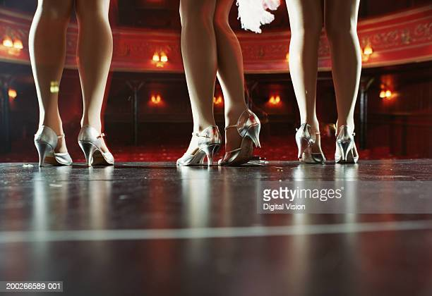 Female dancers on stage, low section