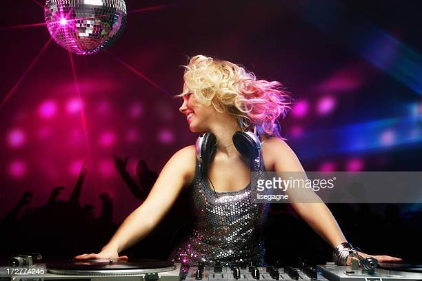 Female DJ in Action