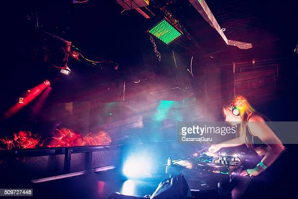 Female DJ in Nightclub