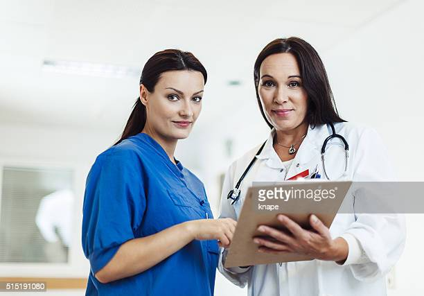 Female doctor and nurse at hospital