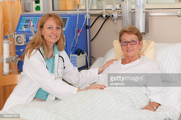 female doctor caring for patient