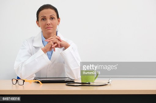 female doctor in medical center : Stock Photo
