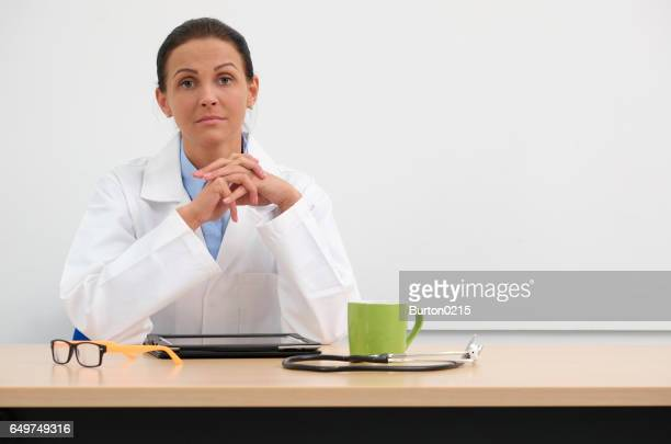 female doctor in medical center