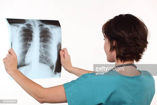 Ärztin-Lungen X-Ray