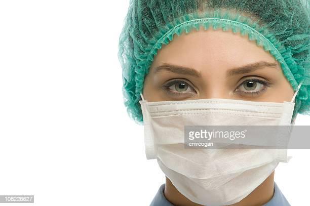 Ärztin mit Maske