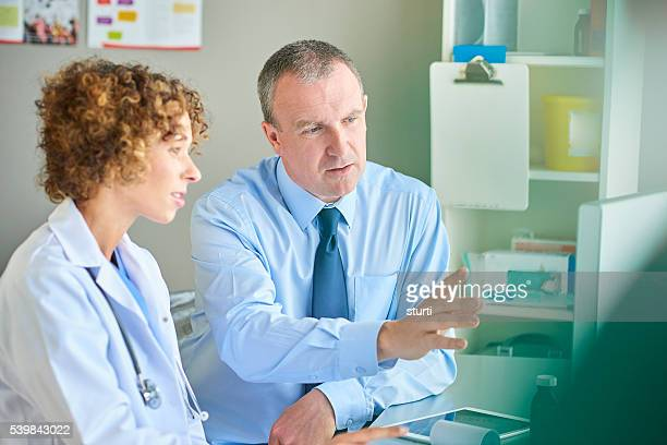 female doctor with administrator