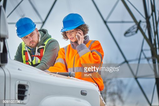 female electricity engineers.