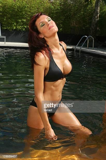 Female enjoying in the pool