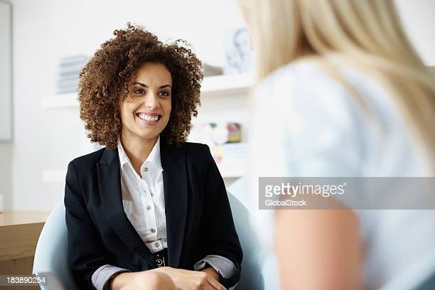 Female executives in discussion