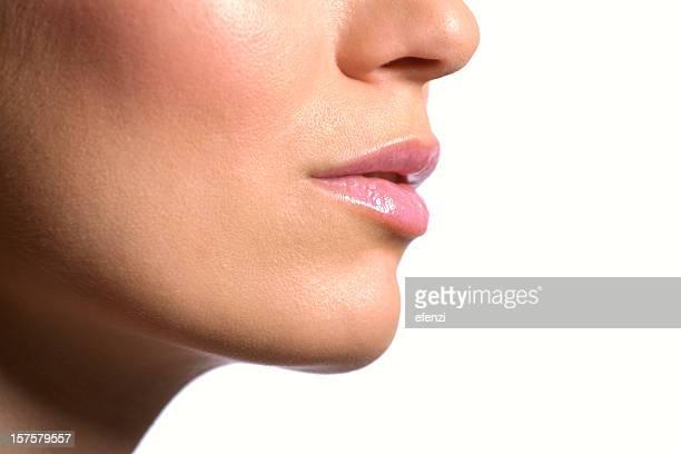 Close-up de rosto feminino