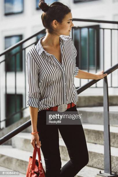 ミュンヘン、ドイツの女性のファッションのブロガー