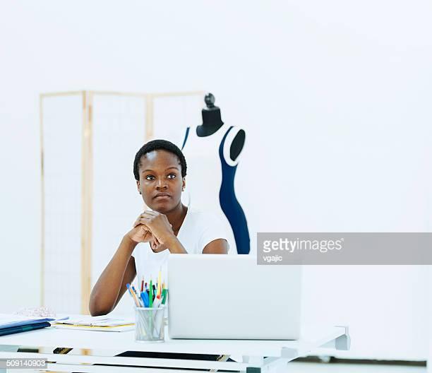 Female fashion designer in the office.