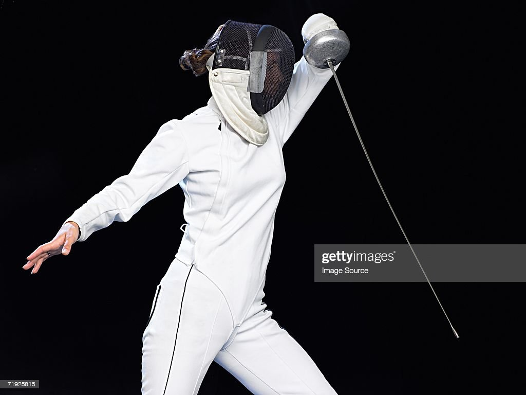 Female fencer : Stock Photo