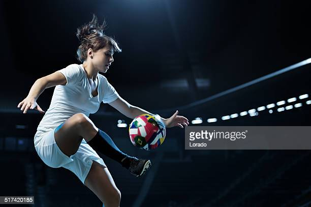 female football player in action