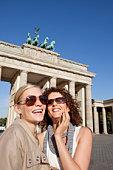 Female Friends enjoying Brandenburg Gate