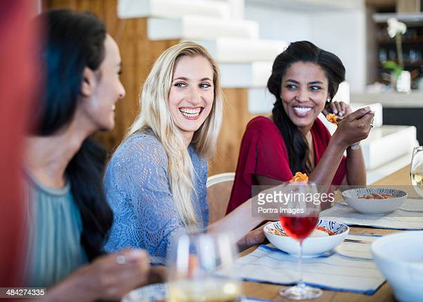 Female friends having dinner