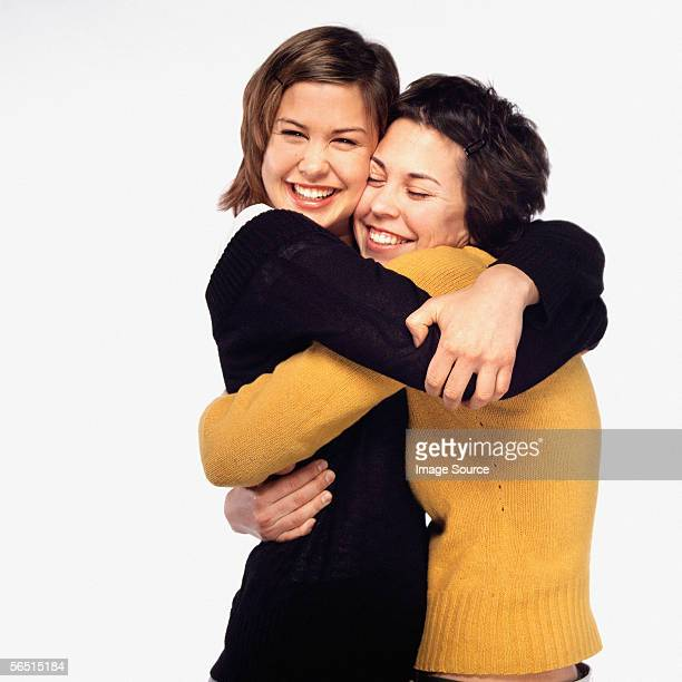Female friends hugging