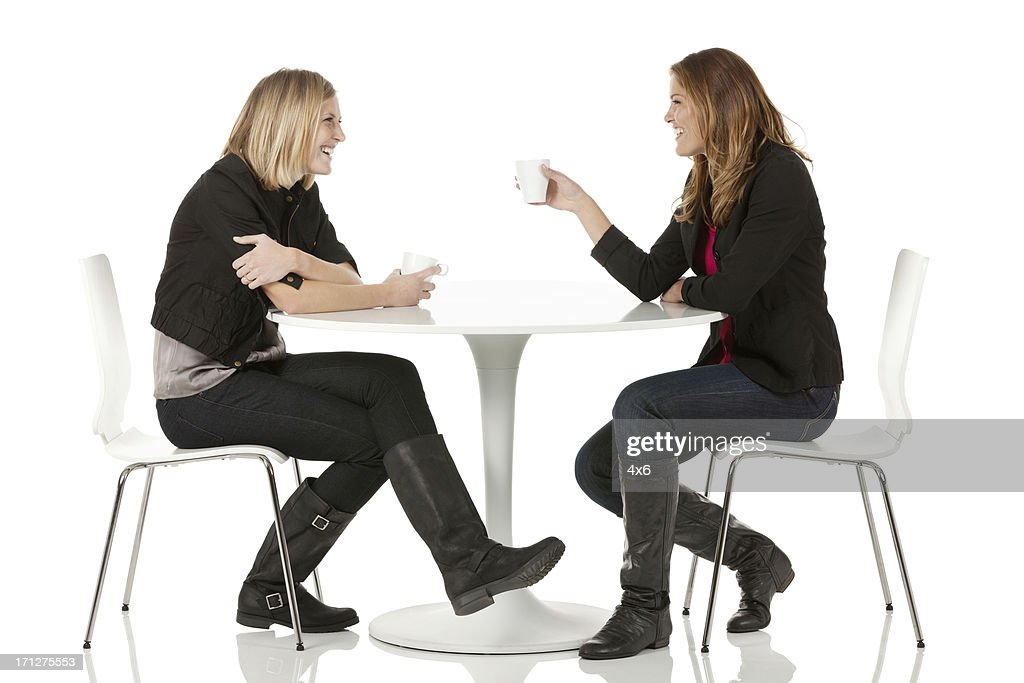 People Sitting At Table White Background. Keywords People Sitting At Table  White Background G