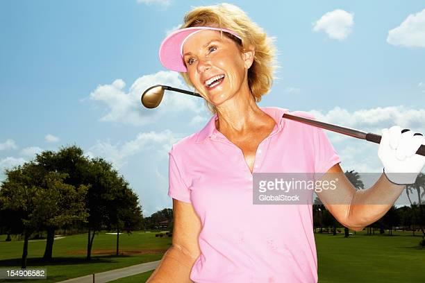 Joueur de golf féminin