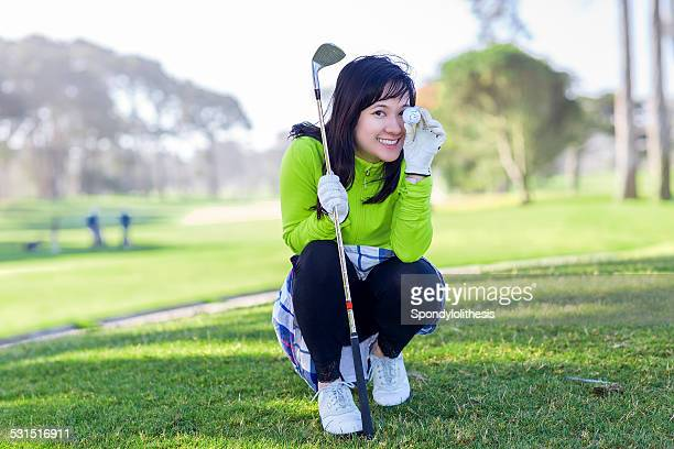 Weiblichen Golfer in San Francisco