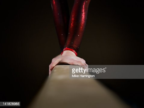 Female Gymnast on Balancing Beam
