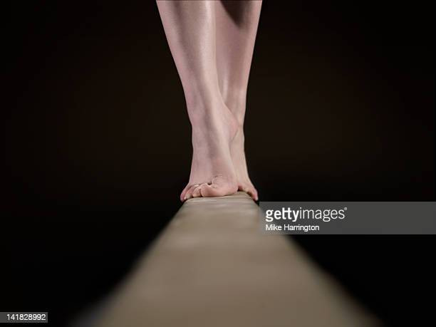 Female Gymnast on Balancing Beam