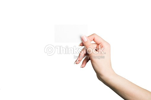 Female hand holding a blank business card stock photo thinkstock female hand holding a blank business card stock photo colourmoves