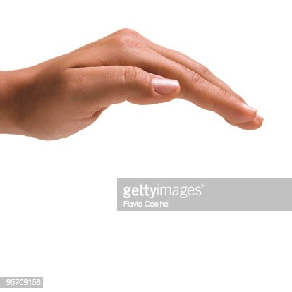 Female hand protecting
