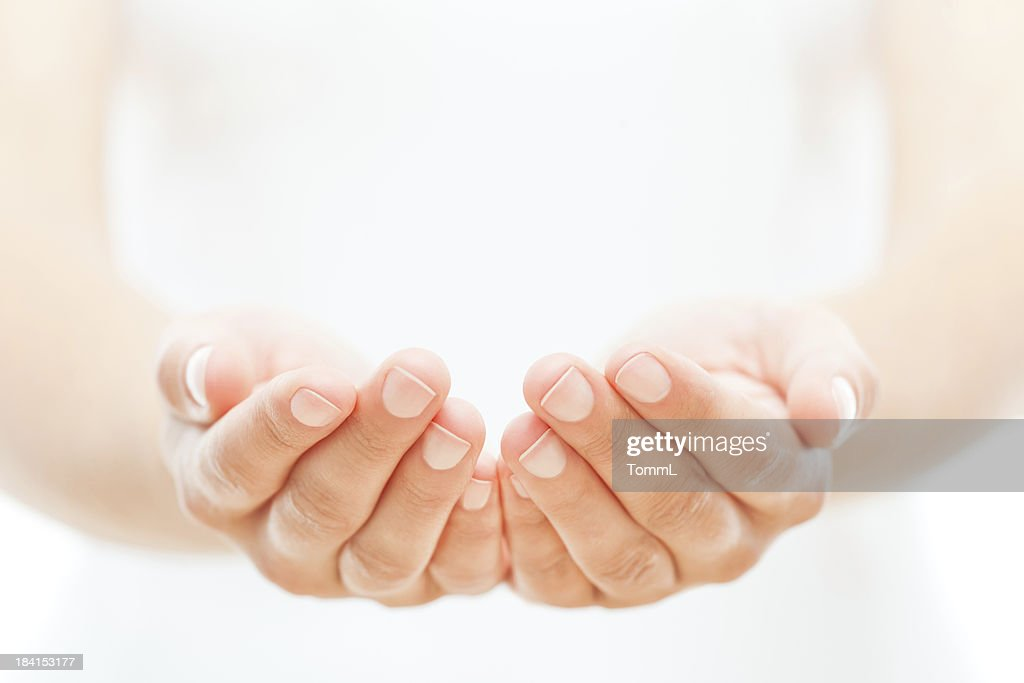 Female Hands on White