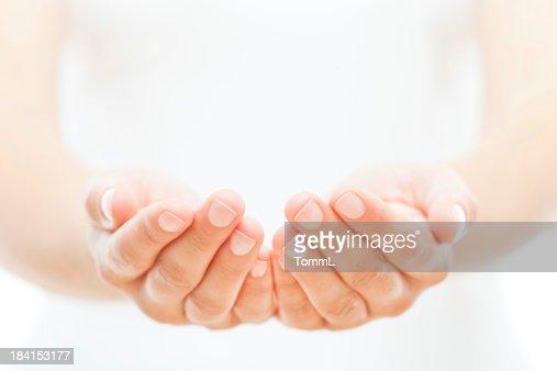 Female Hands on White
