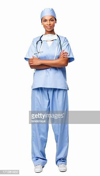 Mujer profesional de atención médica en exfoliaciones-Isolted