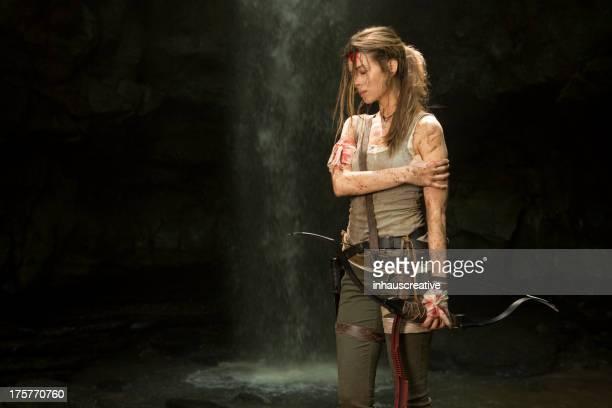Héroïne de femmes dans la Jungle.