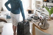 Female holidaymaker watching chaos after burglary after comeback in her one-family house