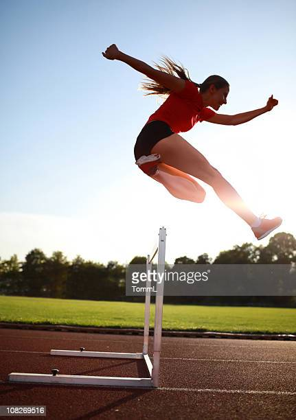 female hurdler