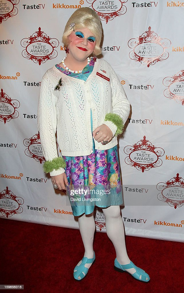 Female impersonator Jason Saffer aka Jolene Sugarbaker attends the 4th Annual Taste Awards at Vibiana on January 17, 2013 in Los Angeles, California.