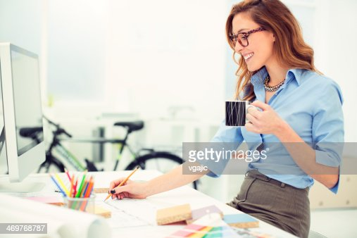 Interior Designers At Work female architect at work stock photo | getty images
