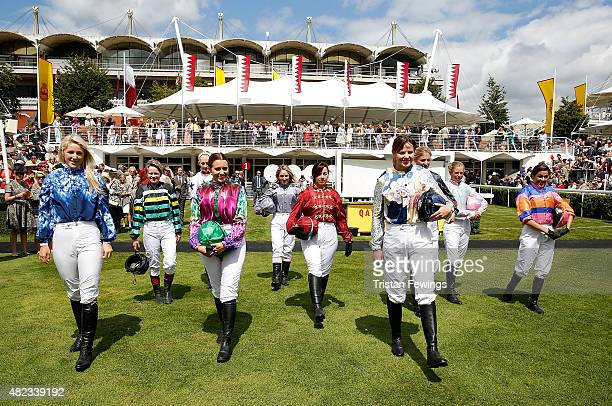 Female jockeys Leonora Smee Dido Harding Emily London Camilla Henderson Clare Salmon Victoria Gray Alexis Green Jemima Hannon Isabelle Taylor and...