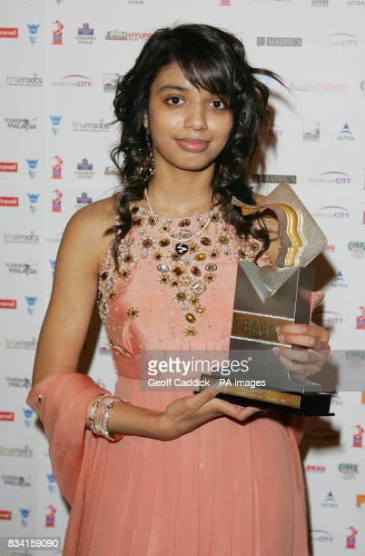 Female Junior Sports Personality of the Year 2007 martial arts expert Nischele Patel from London with her award after receiving it at the British...