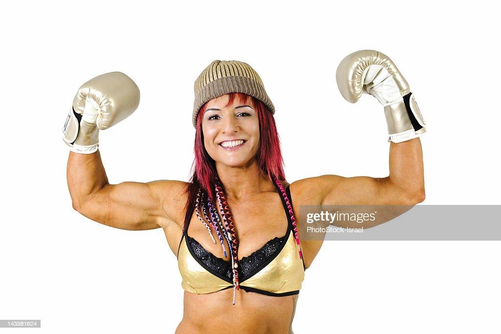 Female Kick Boxer : Stock Photo