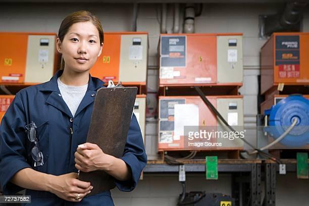 Female Korean factory worker