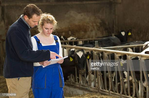 Female Learning About Agriculture Farming