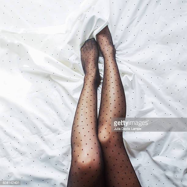 Female legs in stockings