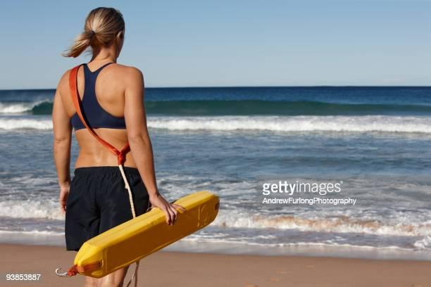 Female lifesaver at beach