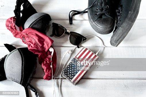 Female lingerie and accessoris : Stock Photo