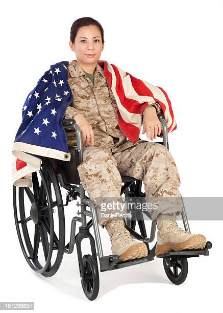 Female Marine Soldier in Wheelchair