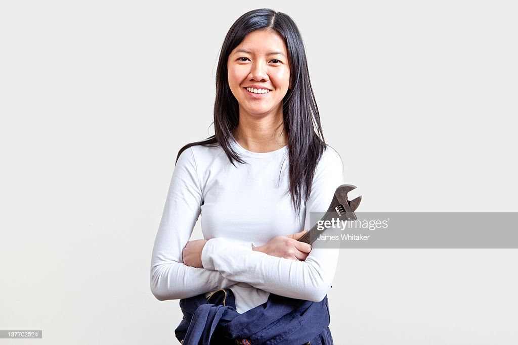 Female Mechanic : Stock Photo