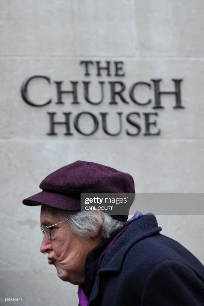 A female member of the clergy arrives at the venue of the three-day Church of England General Synod in central London on November 20, 2012, during which there will be a vote on whether to allow women to become bishops. The 470-member General Synod will vote on November 20 on the issue of women bishops which has split traditionalists and liberals, two decades after England's established state Church backed the introduction of women priests.