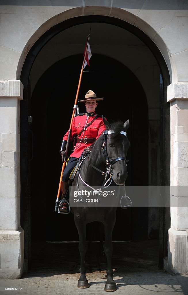 A female member of the Royal Canadian Mounted Police ...