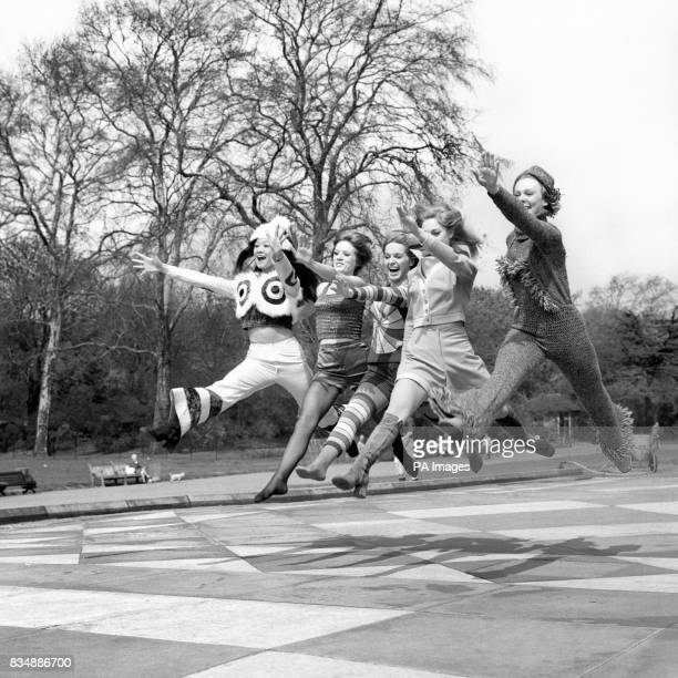 Female members of The Young Generation who appeared in the Tommy Steele Show at the Adelphi Theatre The girls are wearing clothes in conjunction with...