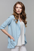 Fashionable young female model